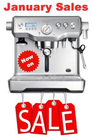 january sales coffee machines